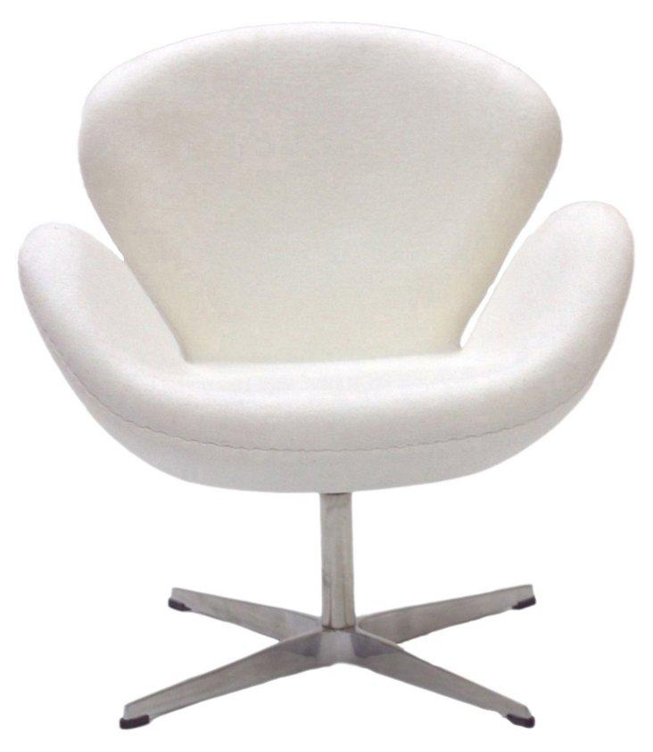*IK Louisa Wing Chair, White