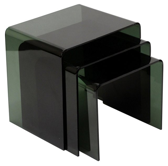 Black Casper Nesting Tables, Set of 3