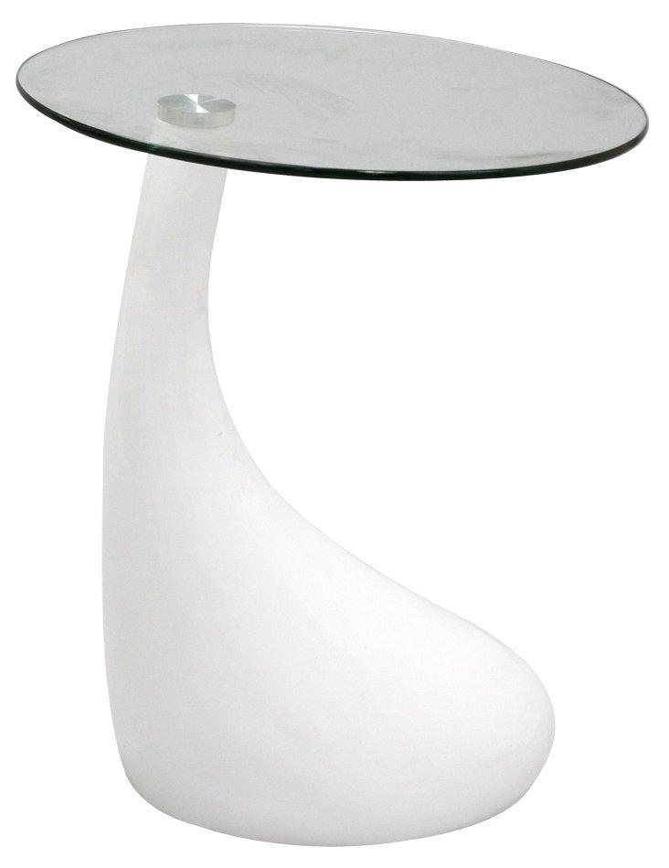 DNU, IK-Teardrop Side Table, White