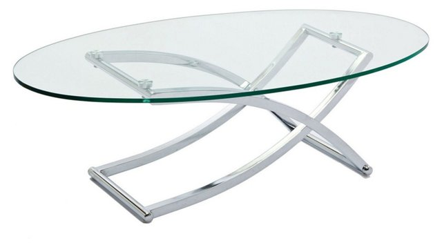 Glass Criss-Cross Coffee Table