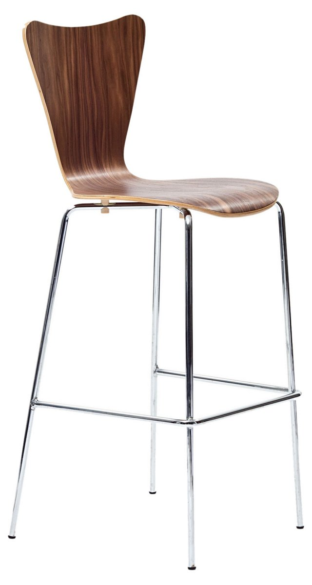 DNU, IK-Ernie Barstool Chair, Walnut