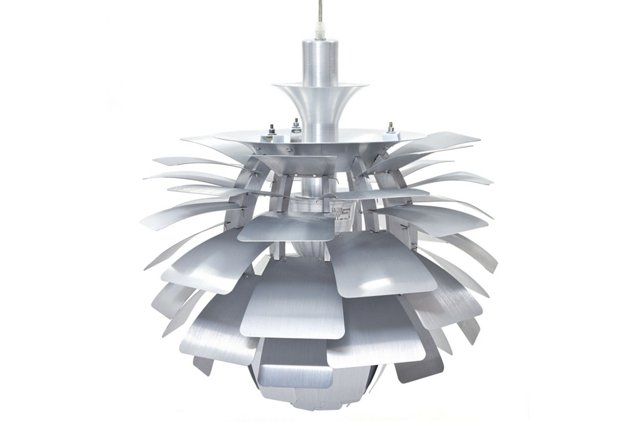 "Trafton 28"" Petal Lamp, Silver"