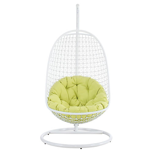 Patio Swing Chair, Green