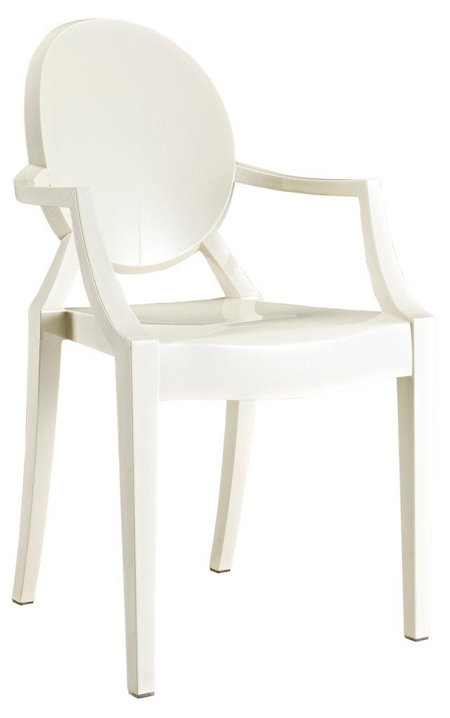 *IK Casper Armchair, White