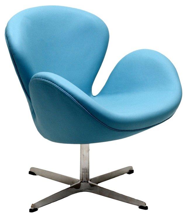 *IK Mott Wing Chair, Baby Blue