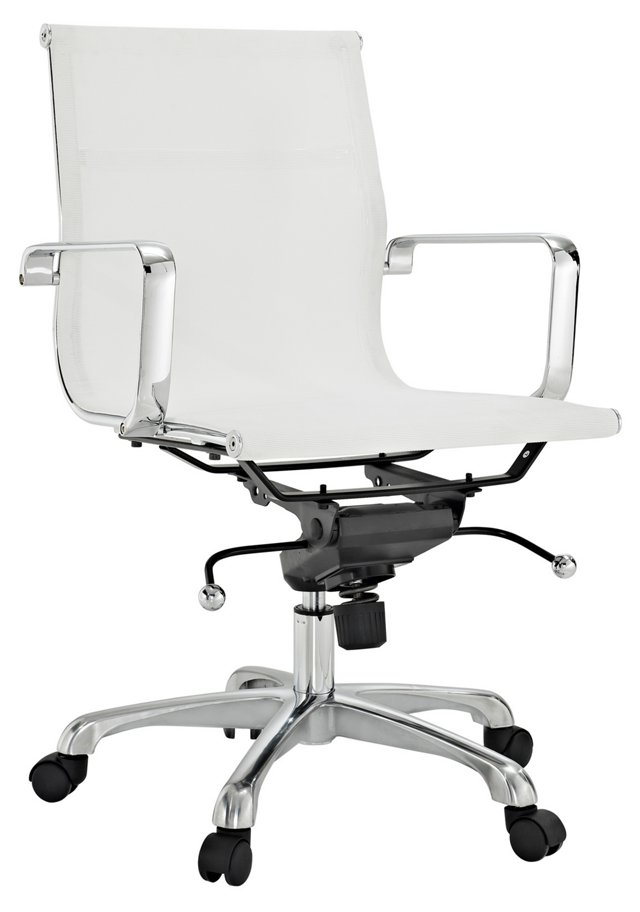 Peters Mesh Office Chair, White