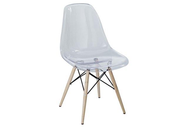 *IK Pyramid Side Chair, Clear