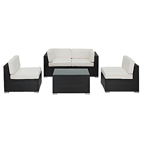 Elsie 5-Piece Sectional Set, White