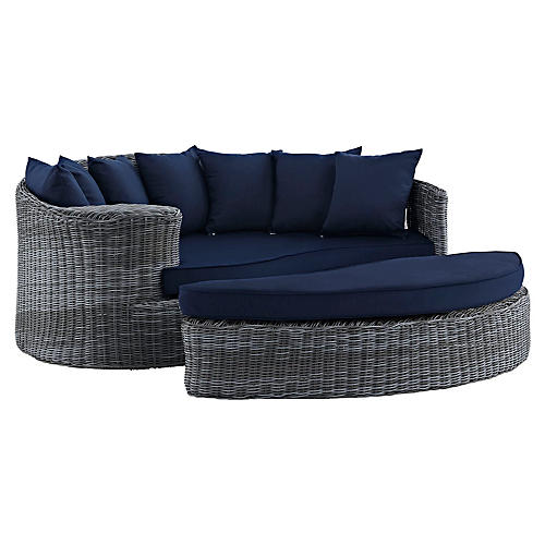Freeport Daybed & Ottoman, Navy
