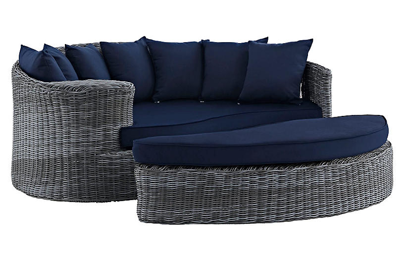 Freeport Daybed & Ottoman - Navy