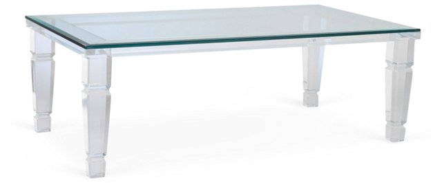 Cosette Coffee Table, Clear