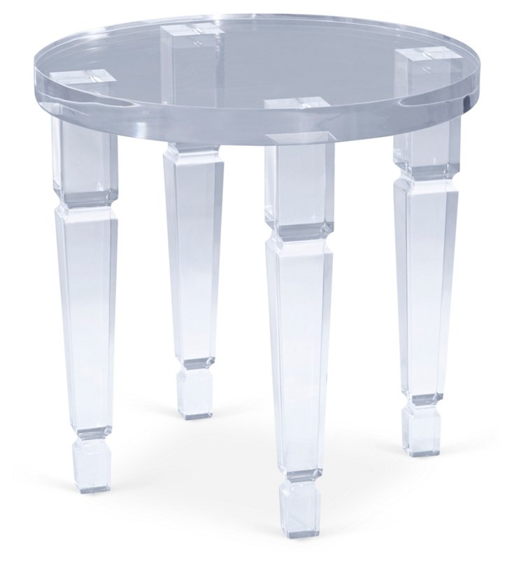 Roma Side Table, Clear