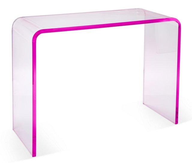Waterfall Console, Pink