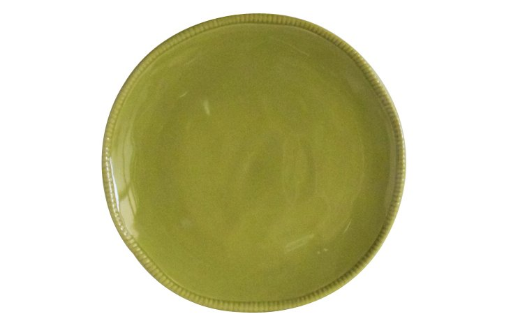 S/4 Algarve Dinner Plate, Green