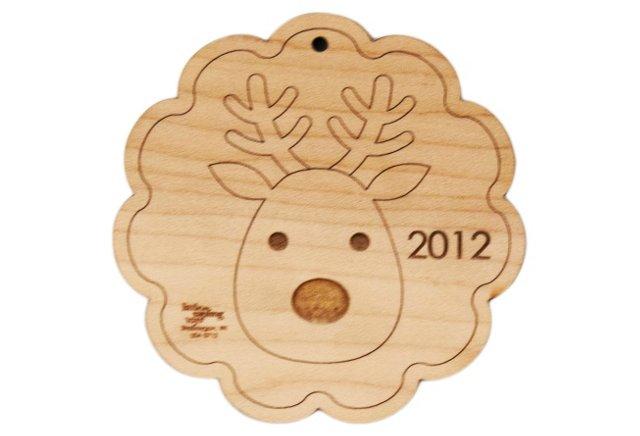 Reindeer Ornament, Maple