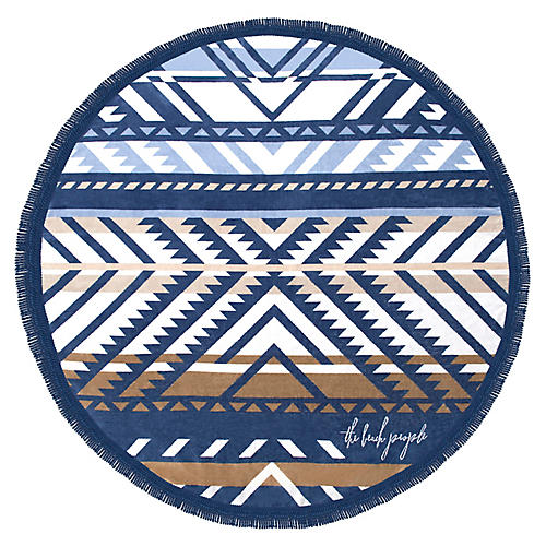 Lorne Beach Towel, Blue/Multi
