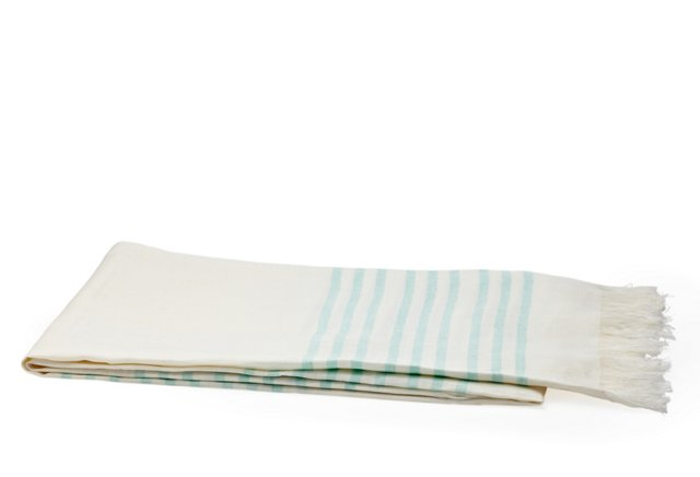 Linen Beach Blanket, Mint