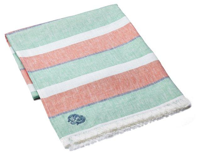 Multi Stripe Towel, Spruce
