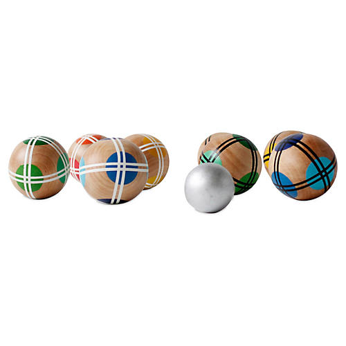 Wood Bocce Ball Set, Multi