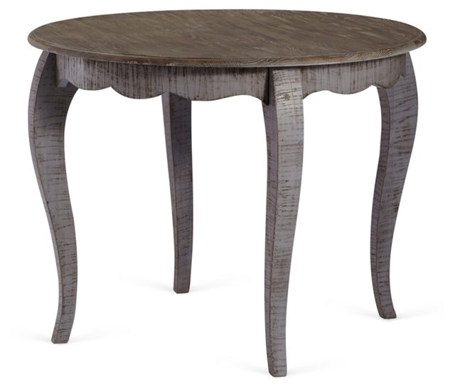 Lissie Dining Table, Charcoal/Natural