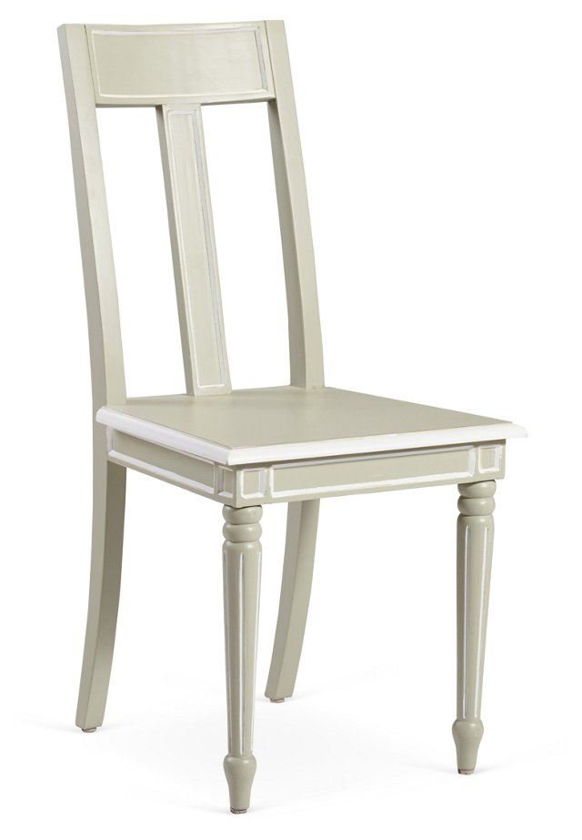 Nickels Dining Chair, Moss Gray/White