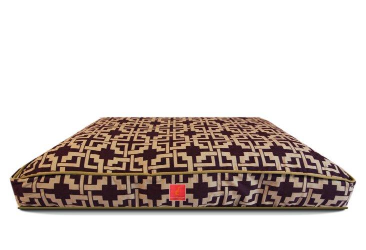 Space Needle Bed, Eggplant/Cream