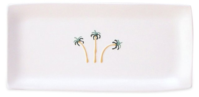 Rectangular Tray w/ Palms