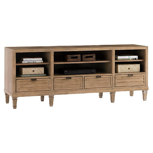 "Spanish Bay 73"" Media Console, Almond"