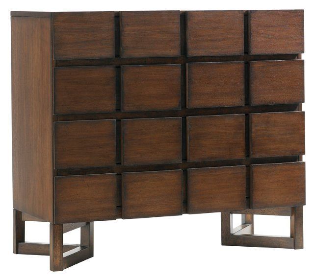 "Cassina 40"" Hall Chest, Dark Walnut"