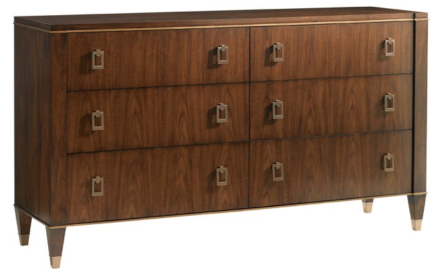 "Evanston 69"" Double Dresser, Walnut"