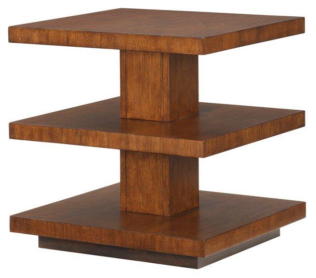 Lagoon 3-Tier Side Table, Tawny