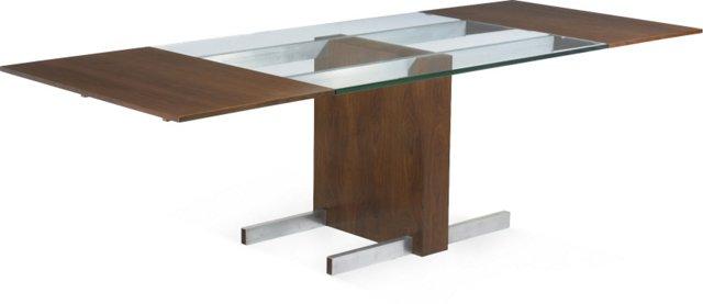 Vladimir Kagan Glass-Top Extension Table