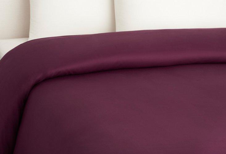 Bamboo Dreams  Comforter Cover, Plum