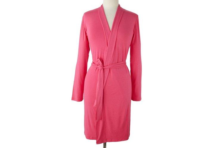 Short Bamboo Robe, Paradise Pink