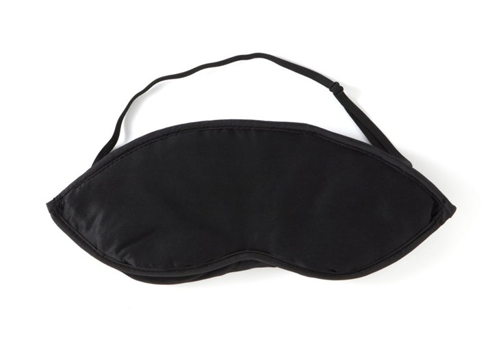 Silk Eye Mask, Black