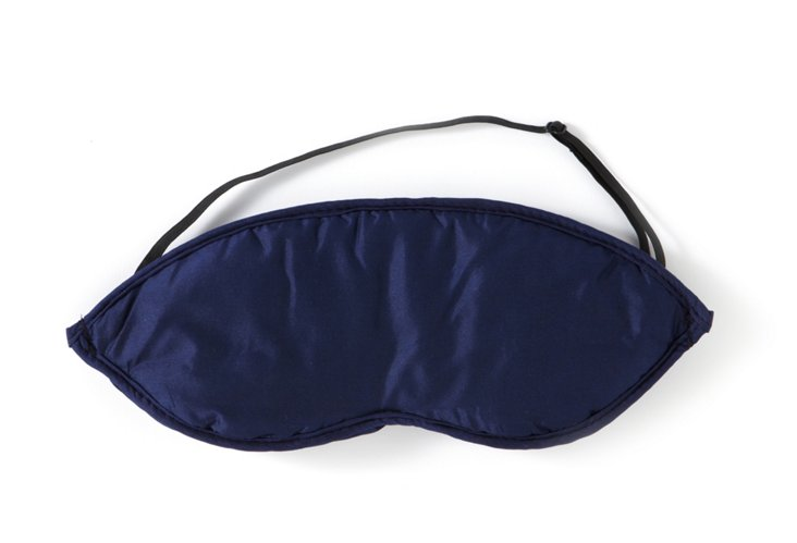 S/2 Silk Eye Mask, Midnight Blue