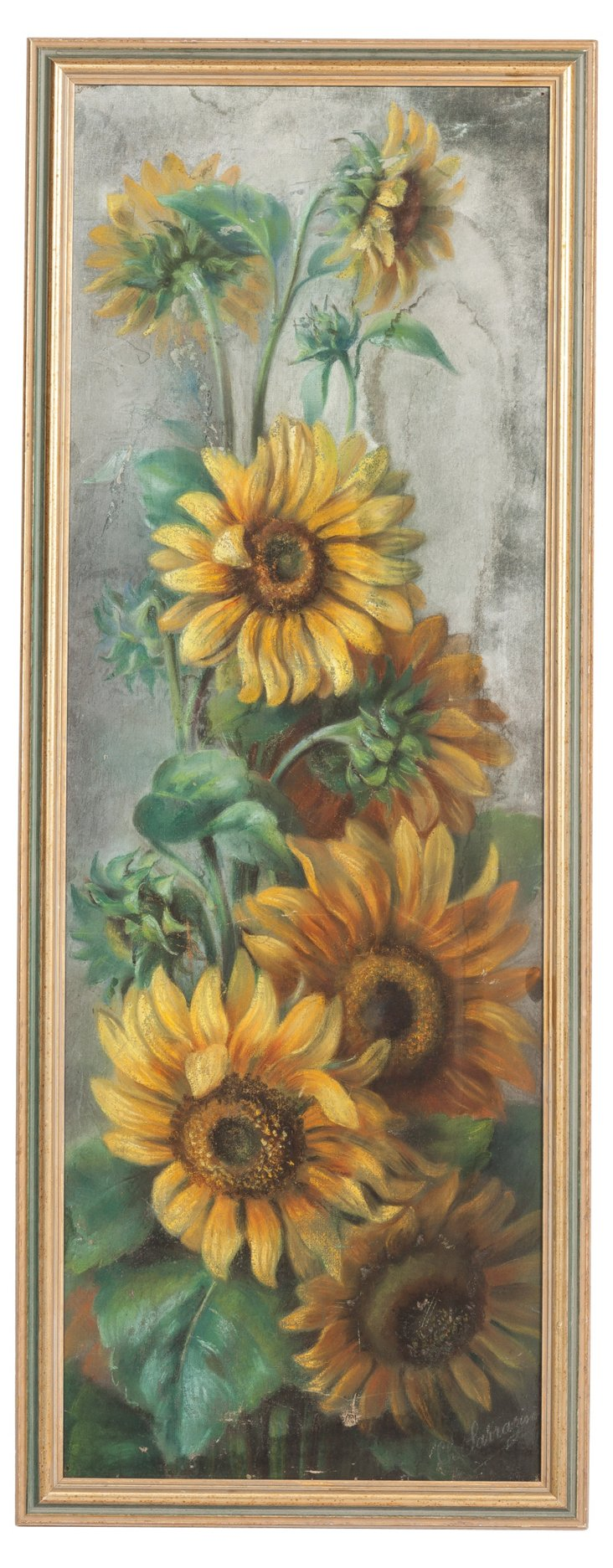 French Sunflowers Oil Painting I