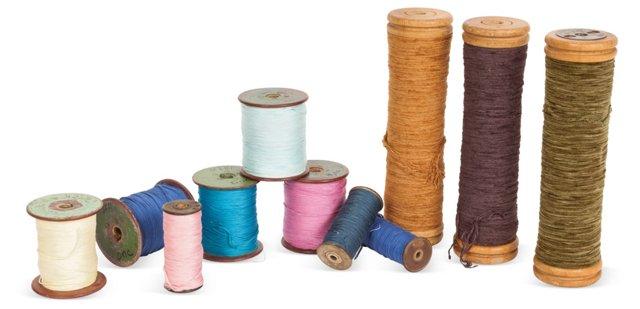 Vintage Cotton Reels, Set of 11