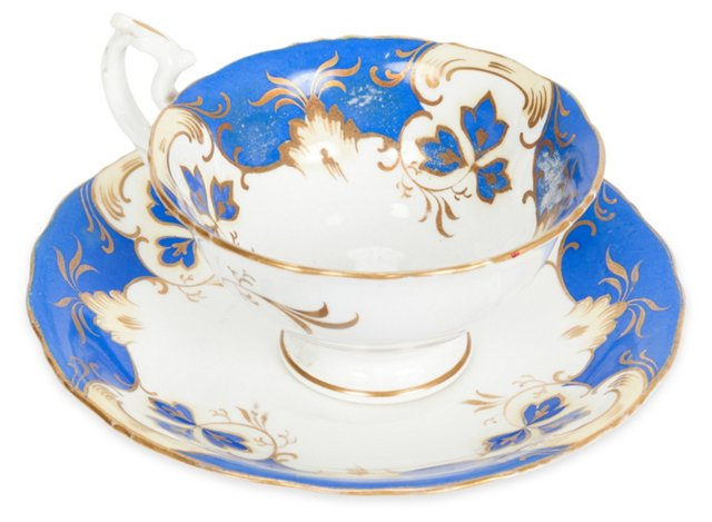 Victorian Coffee Cup & Saucer