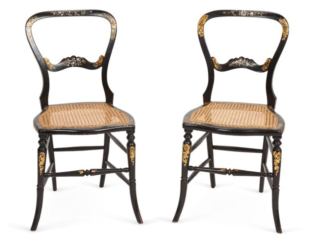 19th-C. Chairs, Pair