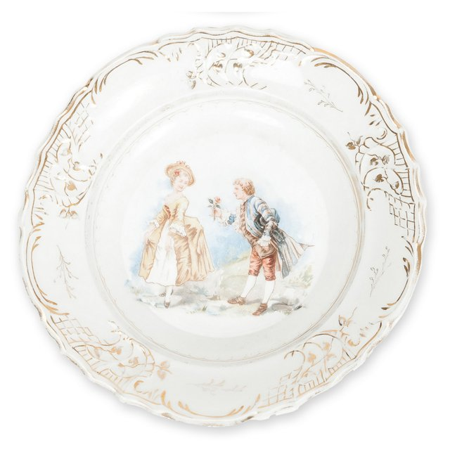 Plate w/ Courting Scene