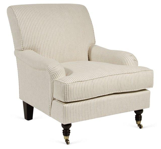 Marla Club Chair, Beige