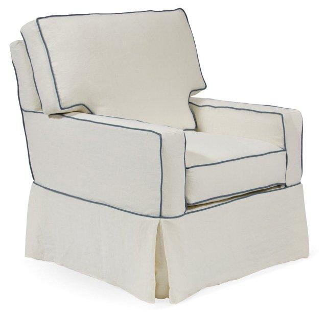 Michele Club Chair, Ivory