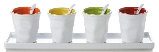 9-Pc Coffee Mug Tray Set