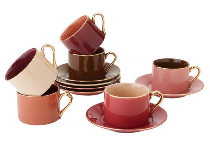 Aubergine Tea Set