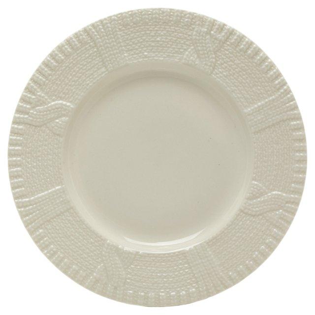 S/6 Knit Plates, White