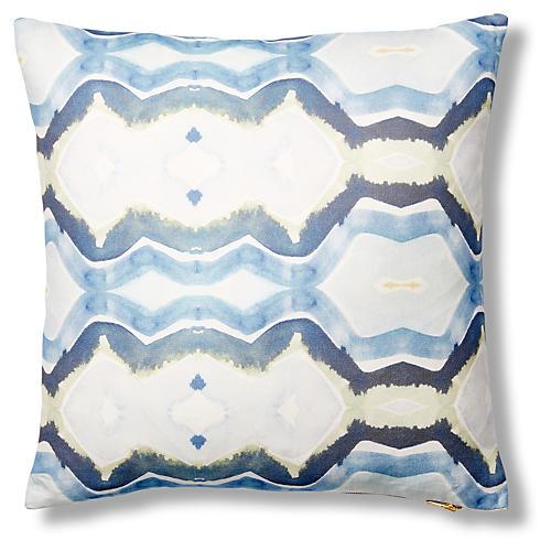 Accra 20x20 Pillow, Ocean Blue