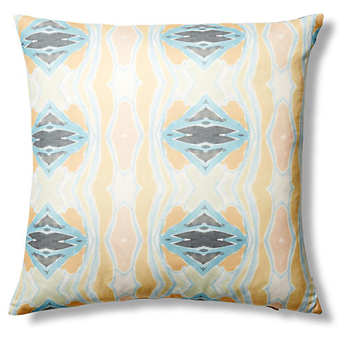 Bonita 24x24 Pillow, Dark Blue