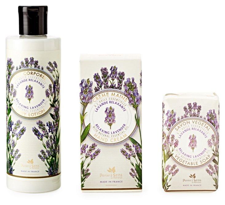 Soap, Cream & Body Lotion Set,  Lavender