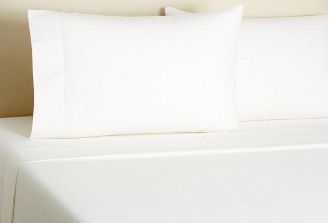 Basketweave Sheet Set,  White